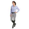 Ovation Euro Melange X-Grip Knee Patch Breeches - grey