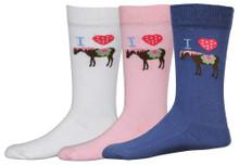 TuffRider I Heart Pony Socks