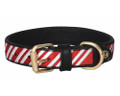 Halo Candy Cane Leather Dog Collar
