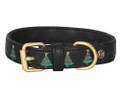 Halo Christmas Tree Leather Dog Collar