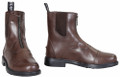 TuffRider Mens Baroque Front Zip Paddock Boots - brown