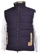 Baker Country Quilted Vest - navy