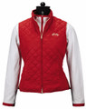Equine Couture Spinnaker Micro Suede Vest - red