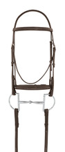 Camelot™ Fancy Stitched Raised Padded Bridle - brown
