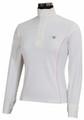 TuffRider Kirby Kwik Dry Long Sleeve Show Shirt - white w/petal pink