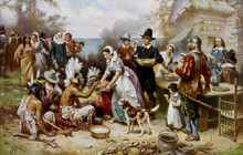 The First Thanksgiving ~ Pilgrims, Puritans and the Founding of America - (Audio CD)