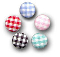 Gingham Covered Buttons from Kari Me Away