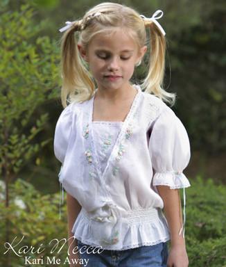 Serendipity Blouse Pattern for Girls by Kari Mecca