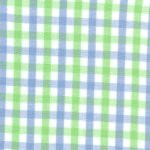 100% cotton, woven plaid fabric