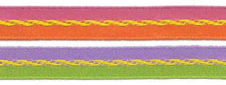 "3/8"" Bi-Color Ribbon with Scroll Center from Kari Me Away"