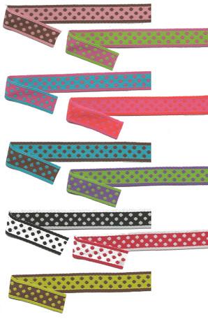 Two-Color Reversible Polka Dot Ribbon