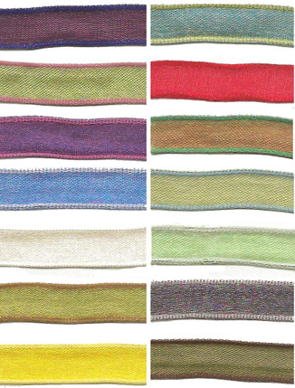 """3/8"""" Woven Iridescent Wired Ribbon from Kari Me Away"""