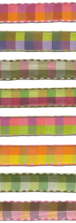 "1/2"" Check Ribbon with Stitched Edges from Kari Me Away"