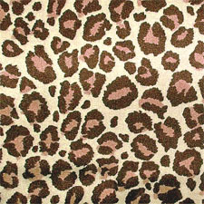 Tan and Brown Silky Jaguar fabric from Kari me Away