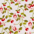 Hello Gorgeous Pomegranate Cream Fabric by Mind's Eye C5691