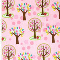 Hoo's in the Forest Pink Fabric by Riley Blake C2561