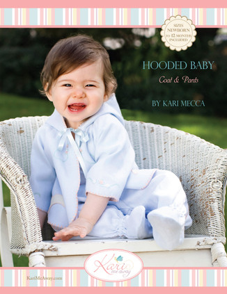 Hooded Baby Coat & Pants Sewing Pattern By Kari Mecca