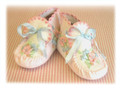 Silk Ribbon Embroidered baby booties kit