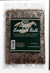 Apple Smoked Maine Sea Salt, 8 oz bag. (Case of Six)