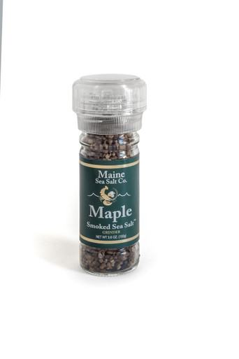 Maple Smoked Maine Sea Salt can be used in your rub recipes, to flavor foods on the grill. I especially good with Salmon and Pork.