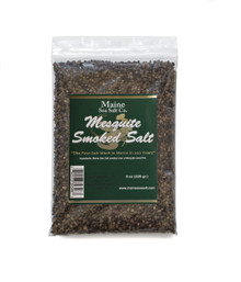 Mesquite Smoked Maine Sea Salt, 8 oz bag,