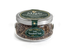 Maple Smoked Maine Sea Salt, 6 oz Gift Jar, six to a case.