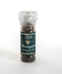 Mesquite Smoked Maine Sea Salt, 3.6 oz Grinder, six to a case.