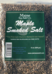 Maple Smoked Maine Sea Salt, 8 oz bag,