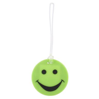 Lewis N Clark Smiley Luggage Tag - Green