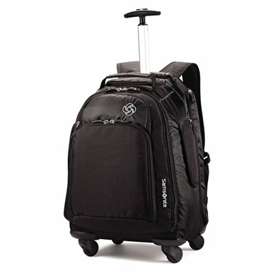Samsonite MVS Spinner Wheeled Backpack - Black