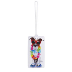 Belle Hop Fashion Luggage Tag, Dog With Lei