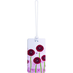 Belle Hop Fashion Luggage Tag, Pink Flower
