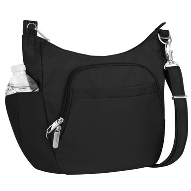 Travelon Anti-Theft Classic Crossbody Bucket Bag - Black