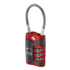 Lewis N Clark TSA Cable Lock - Red