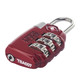 Lewis N Clark TSA Combination Lock Large Dial - Red