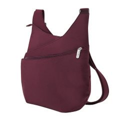 Travelon Anti-Theft Classic Light Drape Front Shoulder Bag - Berry