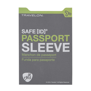 Travelon Safe ID RFID Blocking Passport Sleeve - Gray