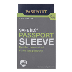 Travelon Safe ID - RFID Blocking Passport Sleeve - Gray