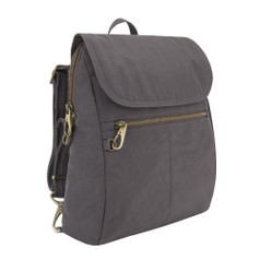 Travelon Anti-Theft Signature Slim Backpack - Smoke