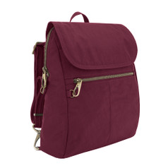 Travelon Anti-Theft Signature Slim Backpack - Ruby