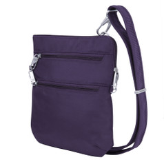 Travelon Anti-Theft Classic Slim Double-Zip Crossbody - Purple