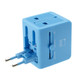 Lewis N Clark Adapter with Dual USB - Blue