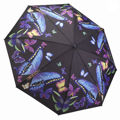 "Galleria Folding 48"" Umbrella - Moonlight Butterflies"