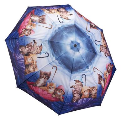 """Galleria Folding 48"""" Umbrella - Kittens Ahoy"""