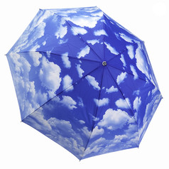 "Galleria Folding 48"" Umbrella, Clear Skies"
