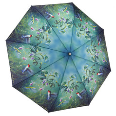 "Galleria Folding 48"" Umbrella, Hautman Brothers - Hummingbirds"