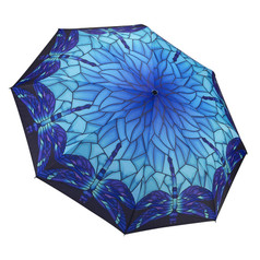 "Galleria Folding 48"" Umbrella - Stained Glass Dragonfly"