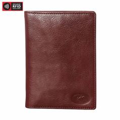 Mancini Equestrian 2 Deluxe Passport Wallet - Cognac