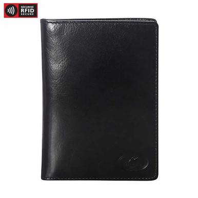 Mancini Equestrian 2 Deluxe Passport Wallet - Black