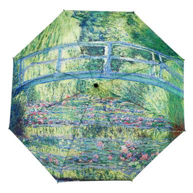 """Galleria Folding 48"""" Umbrella, Monet's Japanese Bridge"""